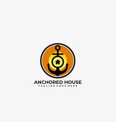 Anchored house design template vector