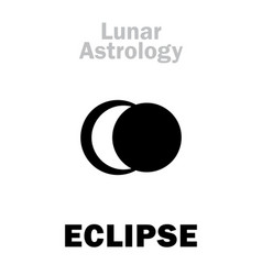 Astrology lunar eclipse vector