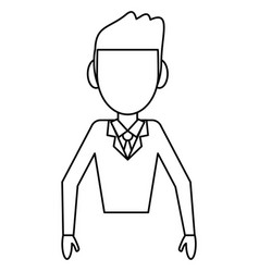 Avatar male people outline vector