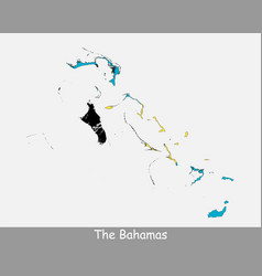 Bahamas map flag vector