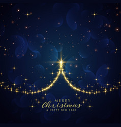 Beautiful sparkle christmas tree background vector