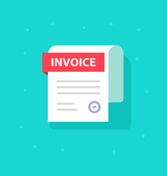 Bill icon flat cartoon invoice paper vector