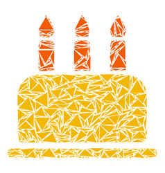 Birthday cake collage of triangles vector