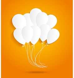 birthday card with paper balloons vector image
