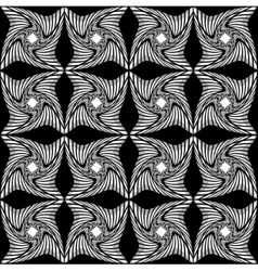 Black and white pattern of twisted squares vector