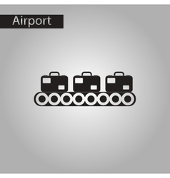 Black and white style icon suitcases airport vector