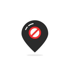 black map pin like offline vector image