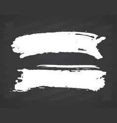 brush strokes set hand drawn grunge texture on vector image