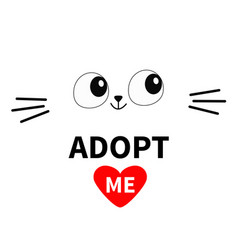 Cat face silhouette adopt me eyes moustaches pet vector