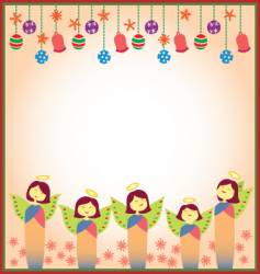 christmas angels vector image