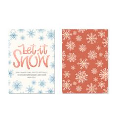 christmas greeting cards with lettering vector image