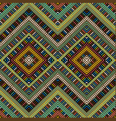 colored african geometrical motifs background vector image