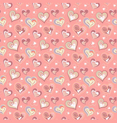 colorful love ornamental pattern with hearts vector image