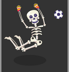 day dead skeleton football player gloves and vector image