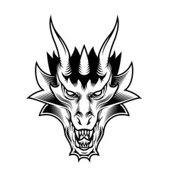 dragon fantasy head vector image