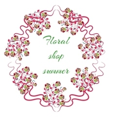 Elegant Bright logo for a flower shop vector image