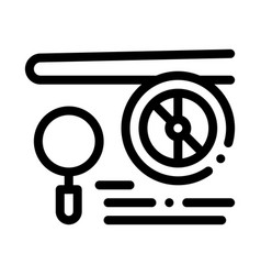 Engine magnifier icon outline vector