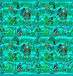 Ethnic decorative seamless pattern vector