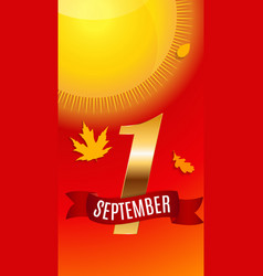 First 1 september template vector