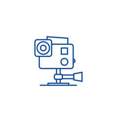 go pro video camera line icon concept go pro vector image
