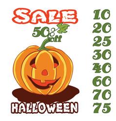 halloween sale 1 vector image