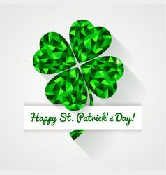 happy st patricks day greeting card vector image