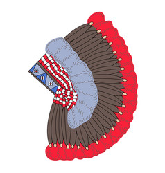 headdress of north american indians vector image