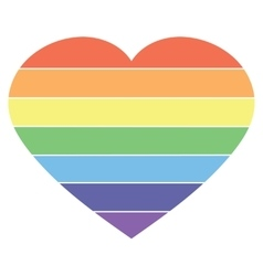 heart rainbow icon lgbt community sign vector image
