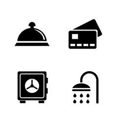 hotel services simple related icons vector image