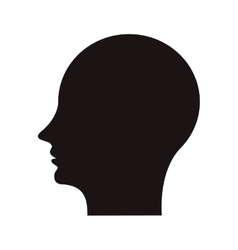 Human head profile icon vector