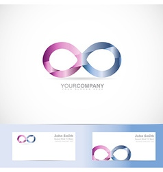Infinite infinity 3d logo design concept vector