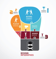 Infographic template boxing jigsaw banner vector