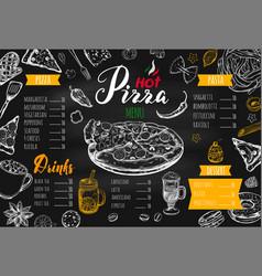 Italian food menu 3 vector