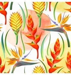 Jungle flowers seamless vector