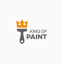 king of paint logo vector image