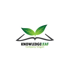 knowledge leaf vector image