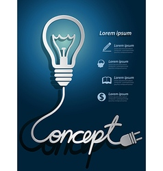 Lightbulb concept vector image
