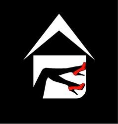 Logo for designer shoe or lingerie business vector image