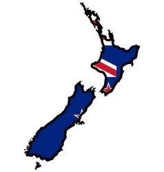 Map in colors of New Zealand vector image