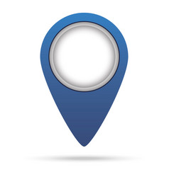 Map pin blue colored marker sign vector