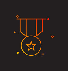 medal reward icon design vector image