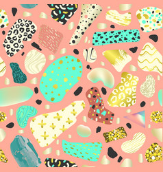 memphis style abstract seamless pattern vector image