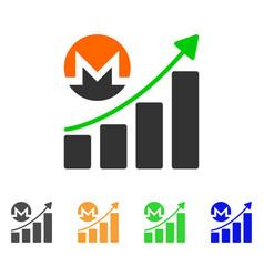 monero growing chart icon vector image