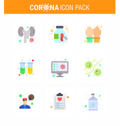 novel coronavirus 2019-ncov 9 flat color icon vector image