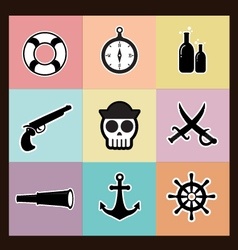 Pirates Pastel vector image