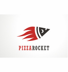pizza slice logo symbol vector image