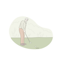 playing golf active rest outdoor activity vector image