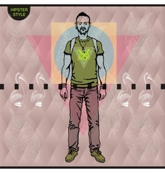Poster in hipster style Hand drawn vector image vector image