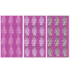 Seamless pattern lavender flowers gladiolus vector