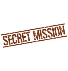 Secret mission stamp vector